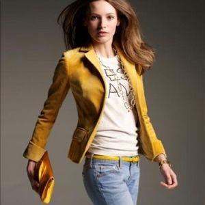 J Crew Mustard Colored Blazer